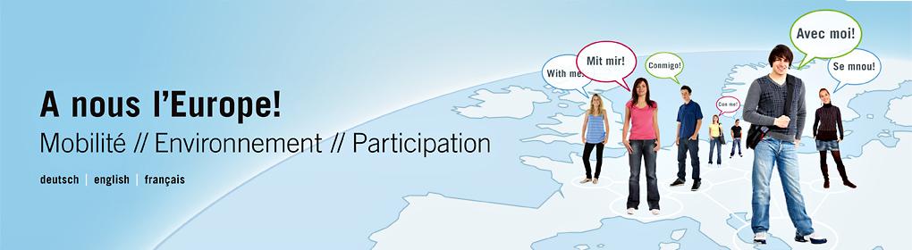 A nous l'Europe – Forum de jeunes sur la participation citoyenne en Europe